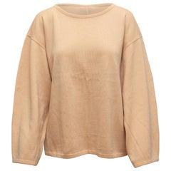 Alaia Tan Virgin Wool Sweater