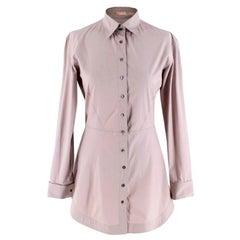 Alaia Taupe Stretch Waist Longline Shirt - Size US 6