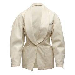 Alaia White Canvas Jacket