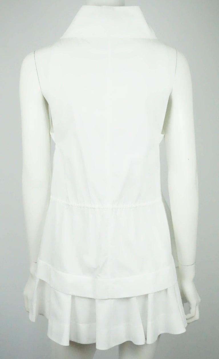 Gray Alaia White Cotton Sleeveless Long Top - 42  For Sale