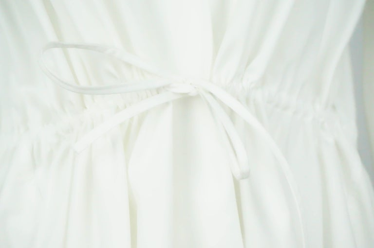 Alaia White Cotton Sleeveless Long Top - 42  In Excellent Condition For Sale In Palm Beach, FL