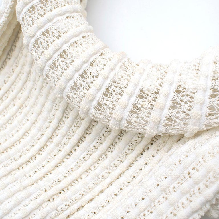 Alaia White Ribbed Knitted Dress	XS 5
