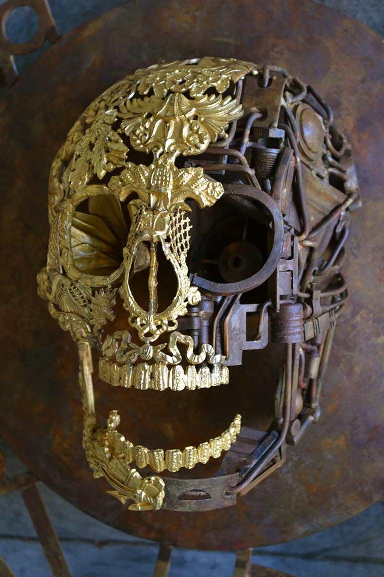 Aeternum Ex-Machina - Skull Bronze Wall Sculpture - Unique Piece For Sale 2