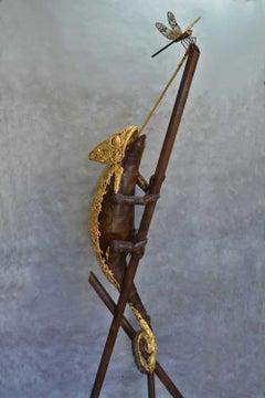 Chameleon Ex-Machina - Bronze Unique Piece