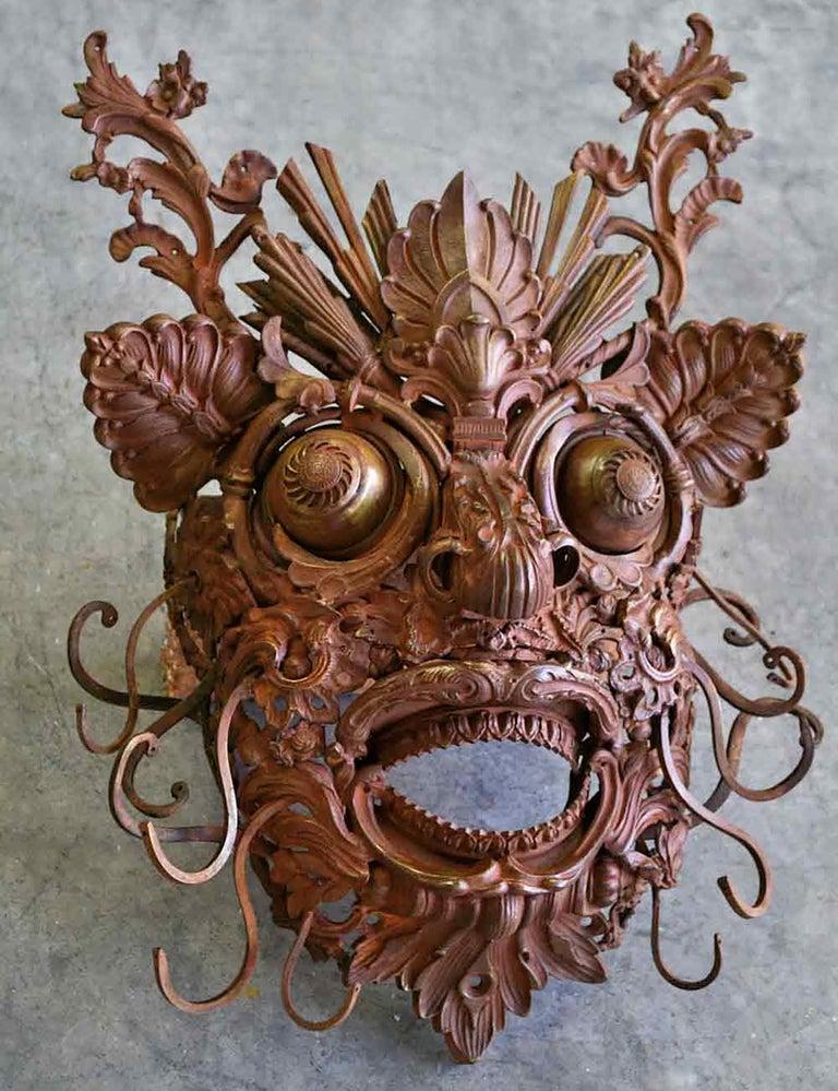 Alain BELLINO Figurative Sculpture - Mascaron - Bronze Unique Sculpture