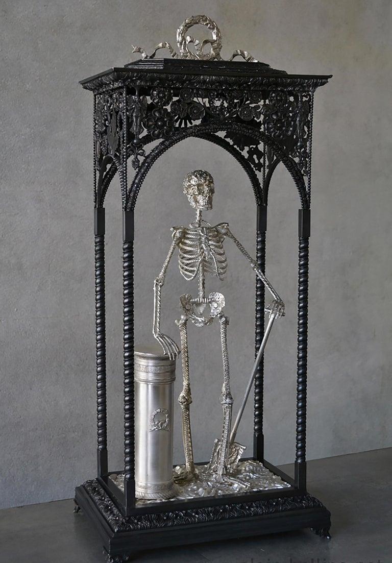 Alain BELLINO Figurative Sculpture - Memento Mori - Bronze Unique Sculpture