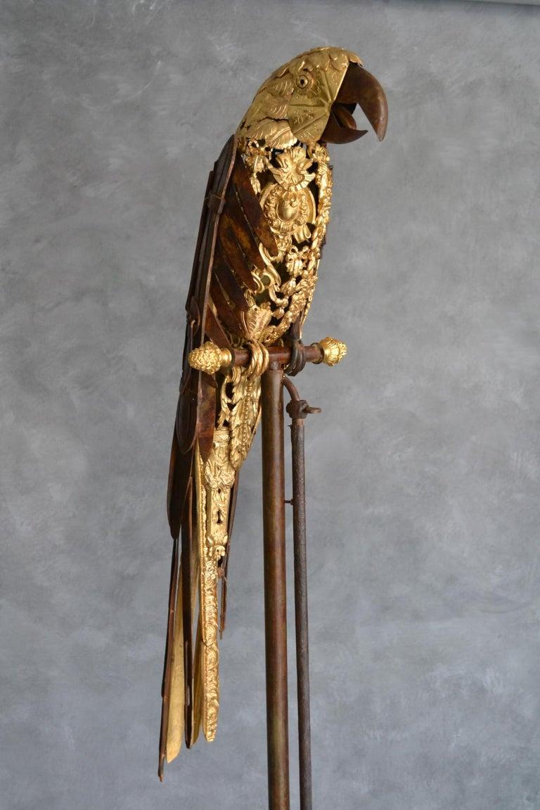 Parrot - Ara Ex Machina - Sculpture by Alain BELLINO