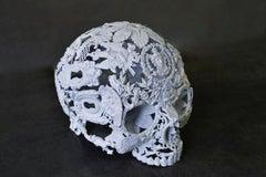 Petit Blanc - Skull Bronze Sculpture - Unique Piece