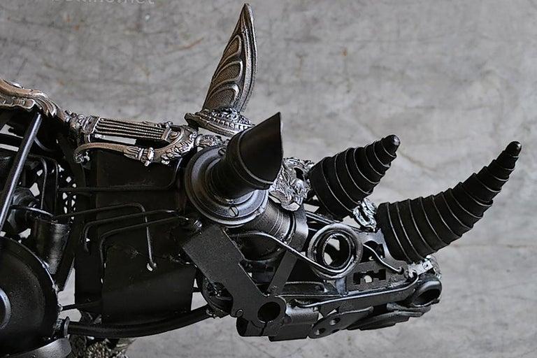 Rhino Ex-Machina - Bronze Unique Piece For Sale 1