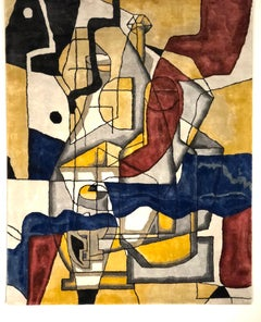 """Contemporary rug """"Composition No.III"""" by French cubist artist Alain Beraud"""