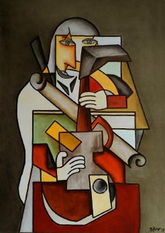 Destructuration by Alain Beraud, Cubism oil painting, Contemporary Art, 2018