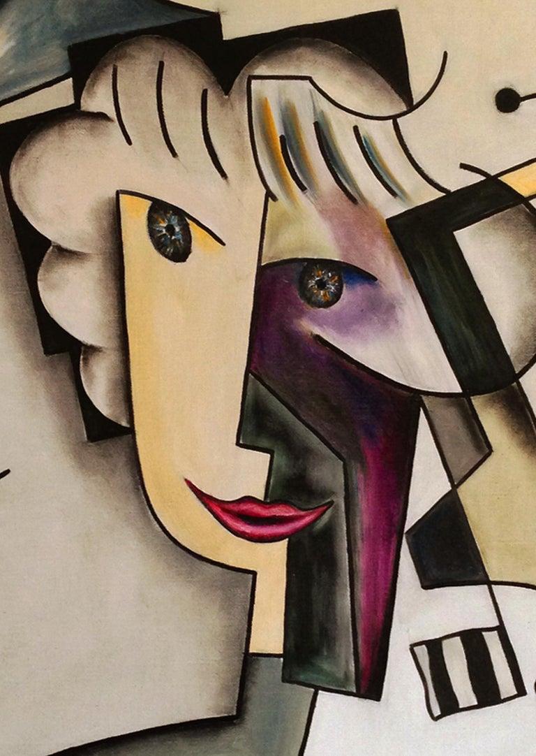 Portrait d'Alice - Painting by Alain Beraud