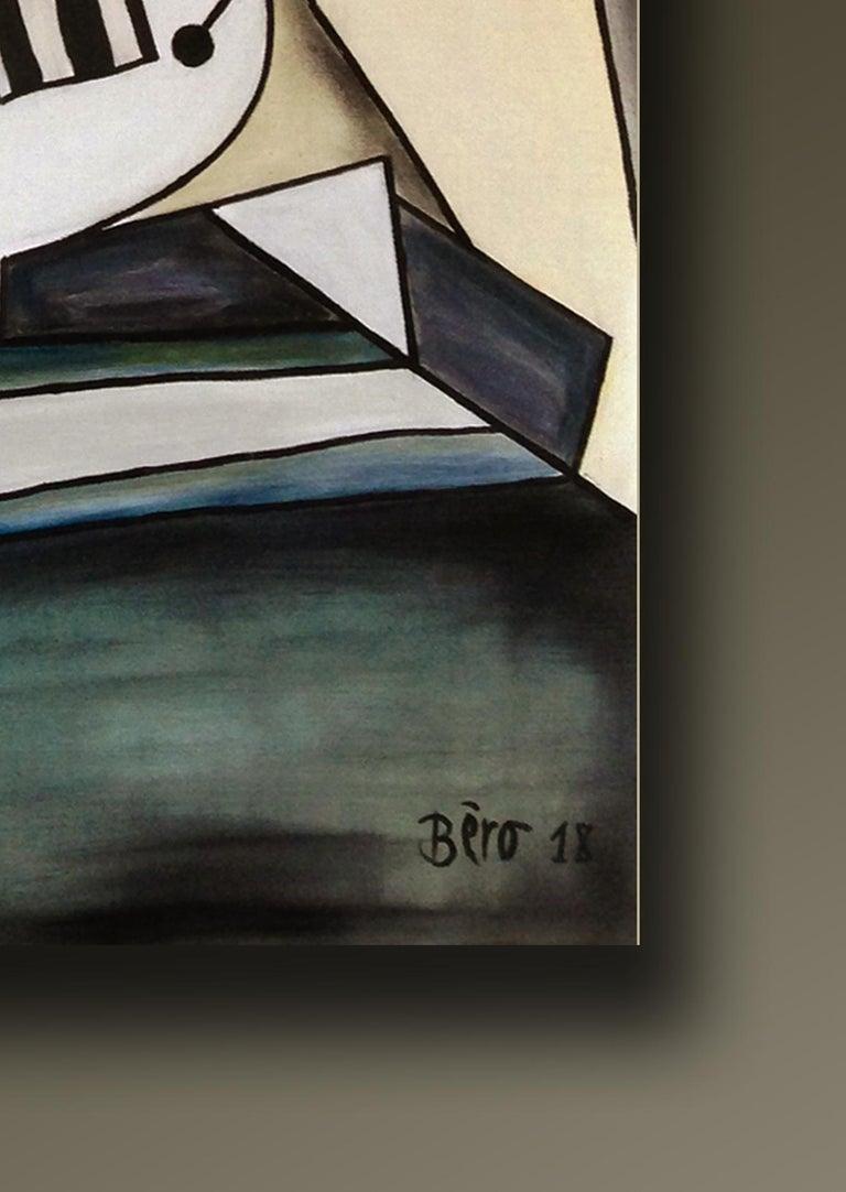 Portrait d'Alice - Surrealist Painting by Alain Beraud