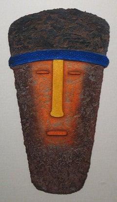 "Tribal Mask Print ""Meditation Man"""