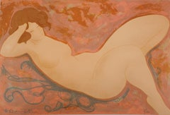 Asleep Nude - Original lithograph, Handsigned and Numbered /100