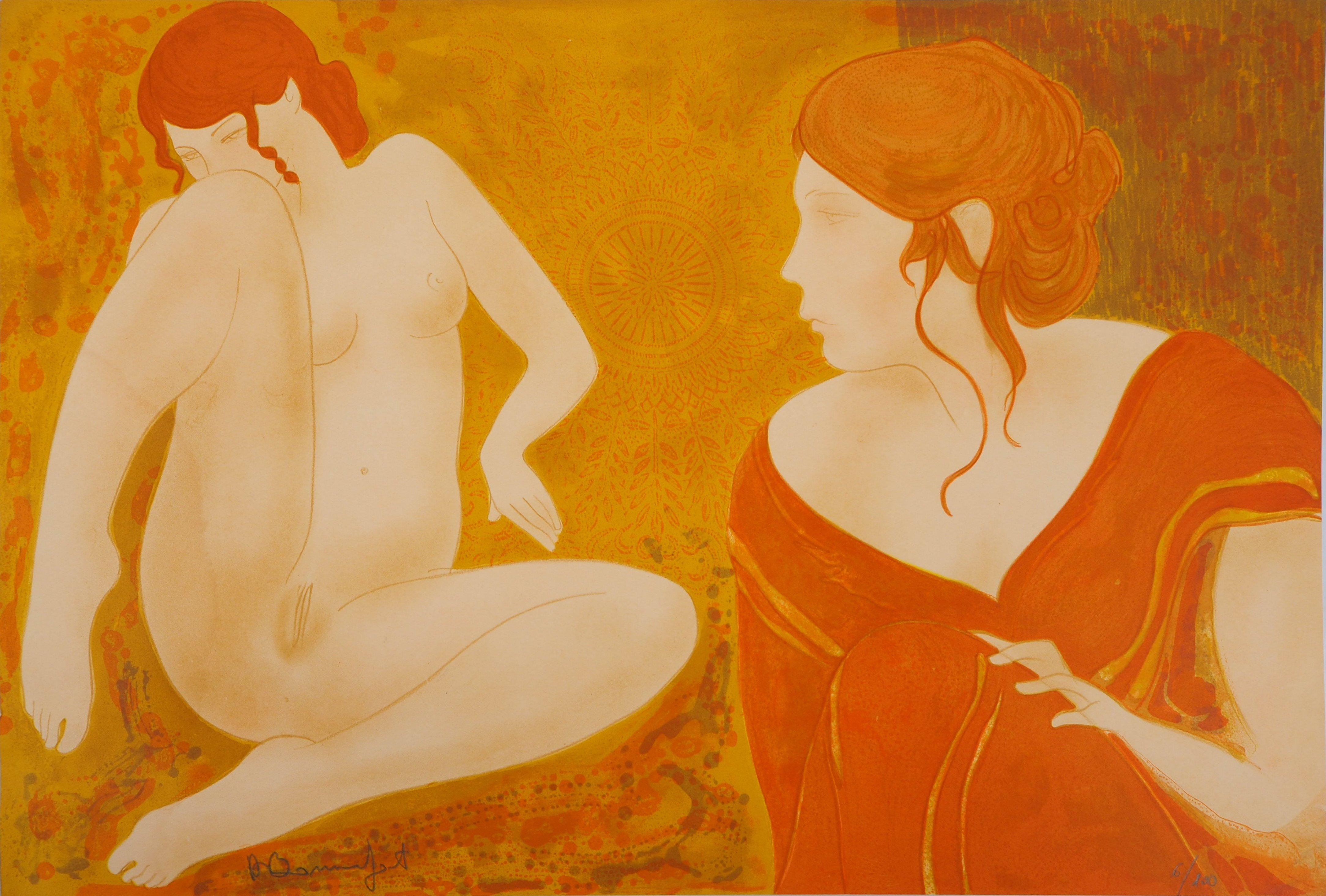Dreaming Nude - Original lithograph, Handsigned and Numbered /100