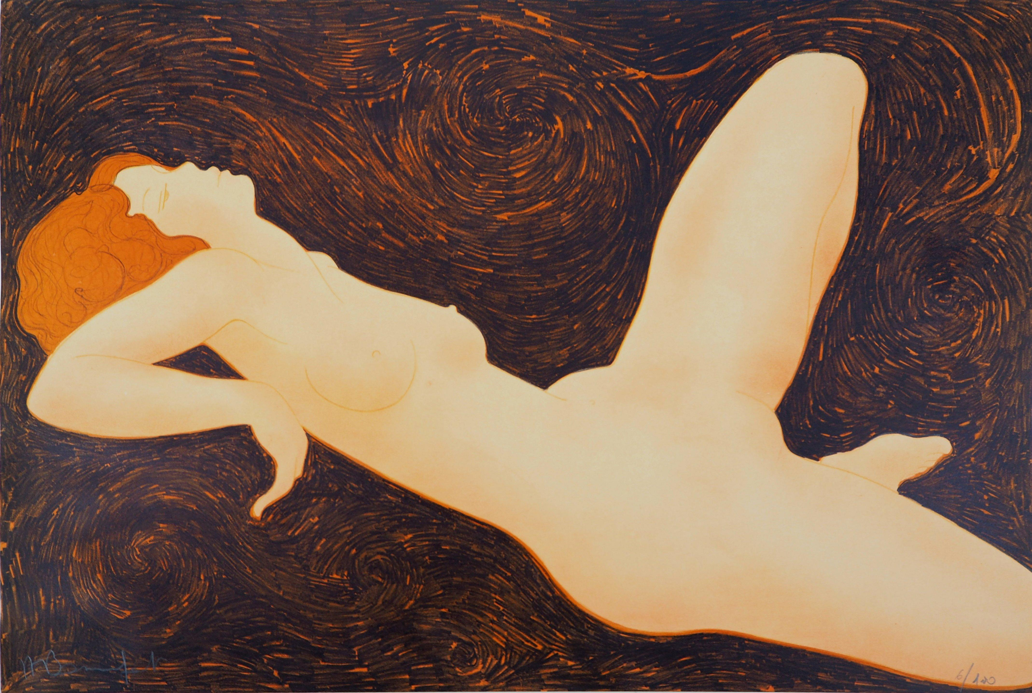 Erotic Dream - Original lithograph, Handsigned and Numbered /100