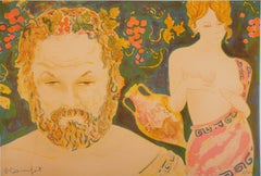 Mythology : Bacchus and Venus - Original lithograph Handsigned and Numbered /100