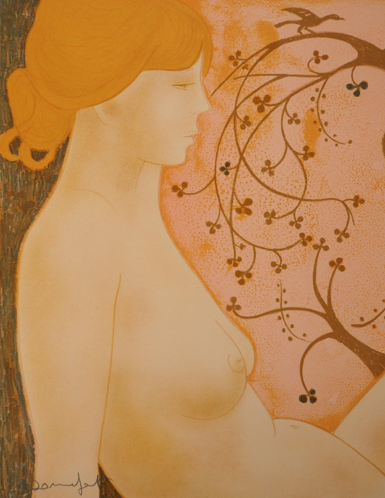 The Lovers - Original lithograph, Handsigned and Numbered /100 - Modern Print by Alain Bonnefoit