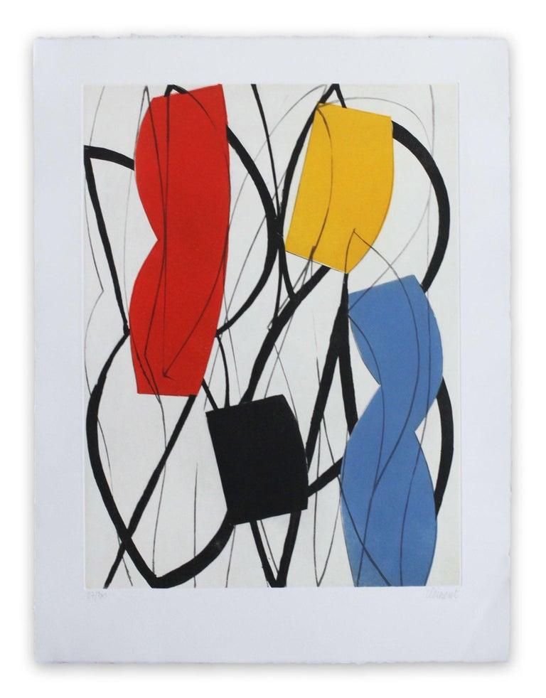 Alain Clément Abstract Print - 13F3G-2013 (Abstract print)