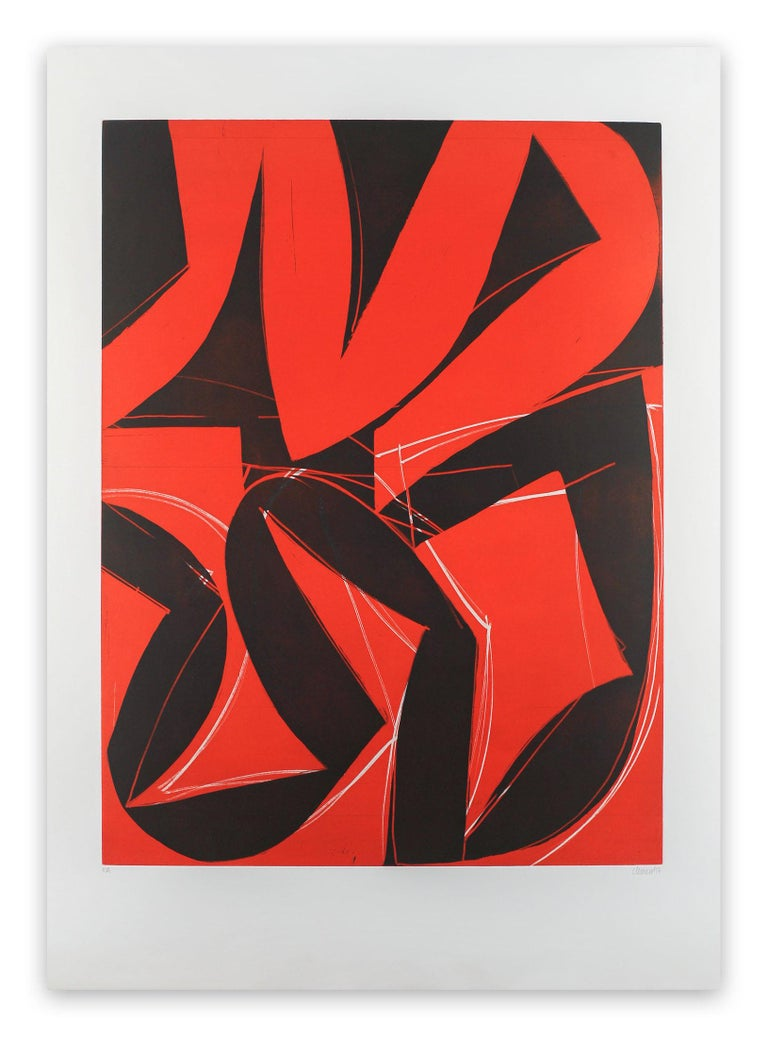 Alain Clément Abstract Print - 17M2G-2017 (Abstract print)