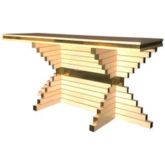 Alain Delon Rare Console Table for Maison Jansen, 1970