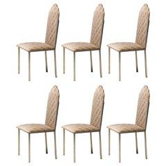 Alain Delon Set of Six Dining Room Chairs