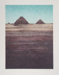 Egypt : The Pyramid of Giza - Handsigned Original Lithograph
