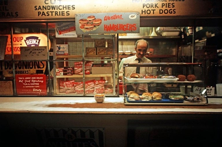 Alain Le Garsmeur Color Photograph - ' All Night Food London 1972 ' Oversize Limited Edition Archival Pigment Print