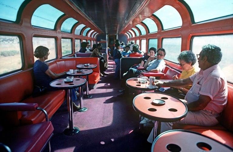 Alain Le Garsmeur Figurative Photograph - ' Amtrak Dining Car 1979 ' Oversize Limited Edition Archival Pigment Print