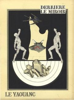 1970 Alain Le Yaouanc 'Anatomy Figure Composition' Surrealism Black & White,Yell
