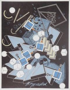 Surrealist Explosion - Handsigned Original Lithograph