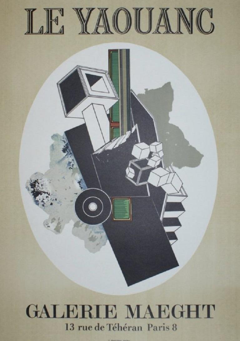 Mid-20th Century Alain Le Yaouanc Original Vintage Poster For Sale