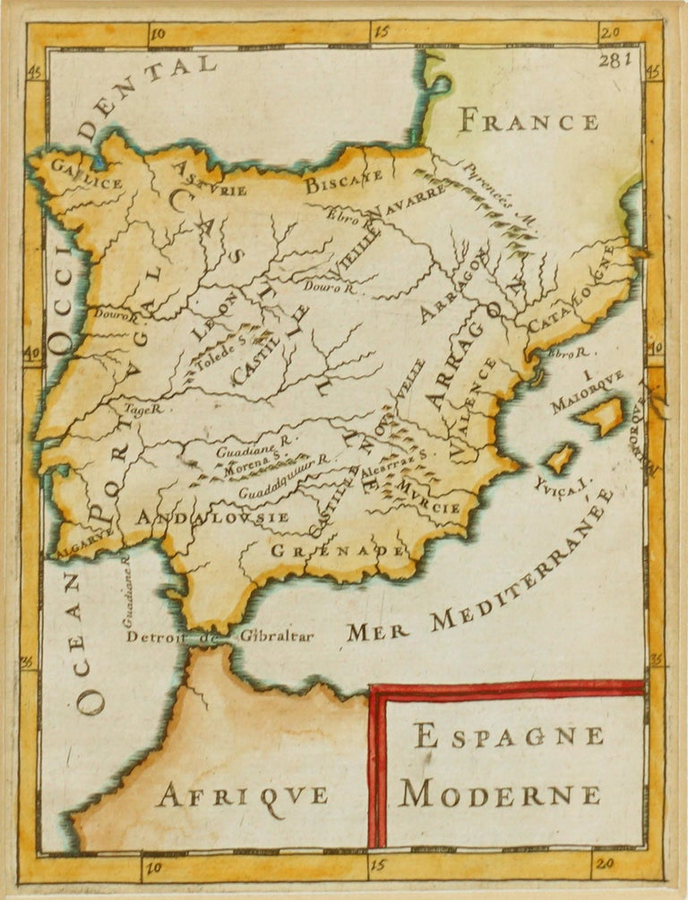 Antique Map of Spain 1