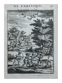 "Native Civilians of America -- ""De L'Amerique"" Published Frankfurt / 1683"