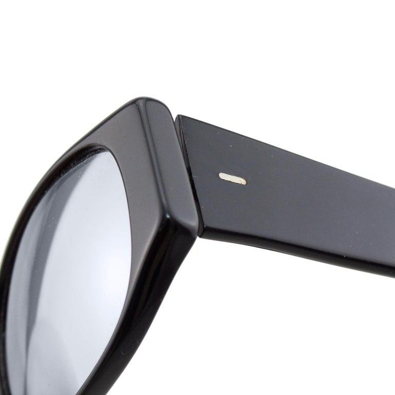 Alain Mikli Black Sunglasses with Mirror Lenses For Sale 1