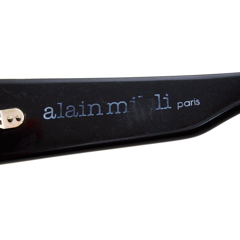 Alain Mikli Black Sunglasses with Mirror Lenses For Sale 3