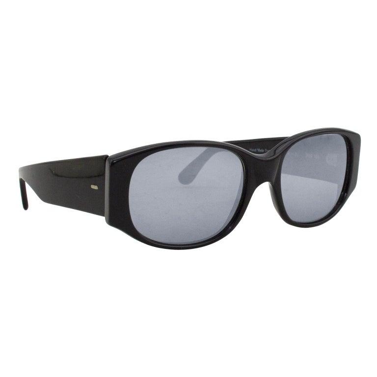Alain Mikli Black Sunglasses with Mirror Lenses For Sale