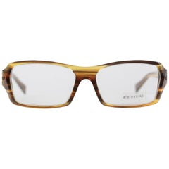 ALAIN MIKLI Brown Unisex FRAME A0530 57/15 132 Spectacles Clear Lens