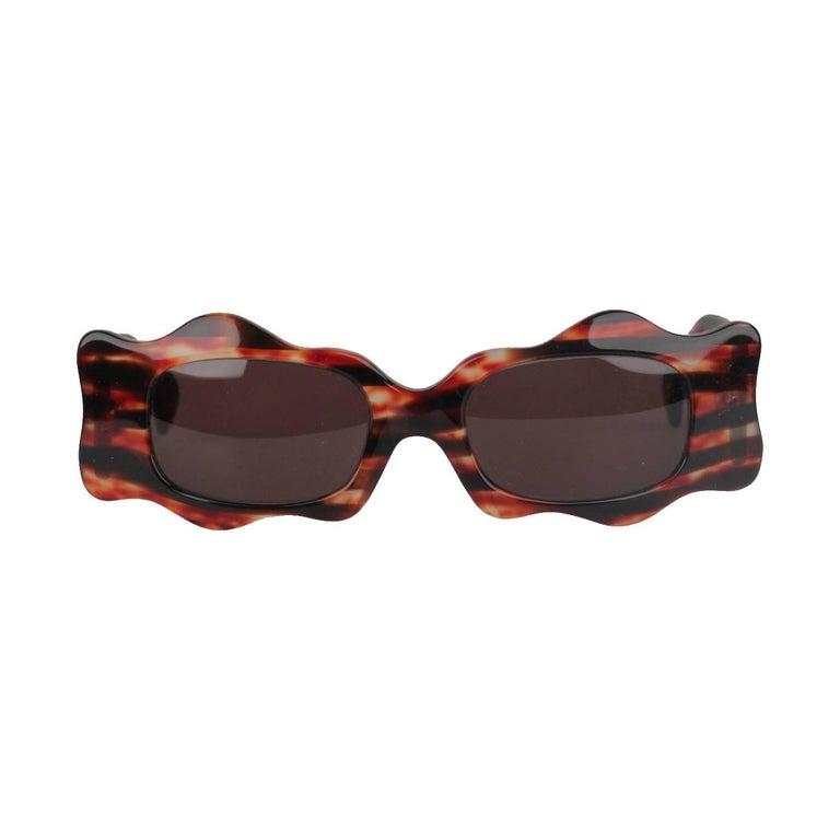 ALAIN MIKLI Paris Vintage Brown Women Sunglasses mod. 5008 1000 NOS