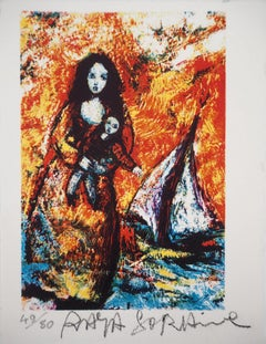 The Fisherman's Wife - Original signed lithograph - 80 ex