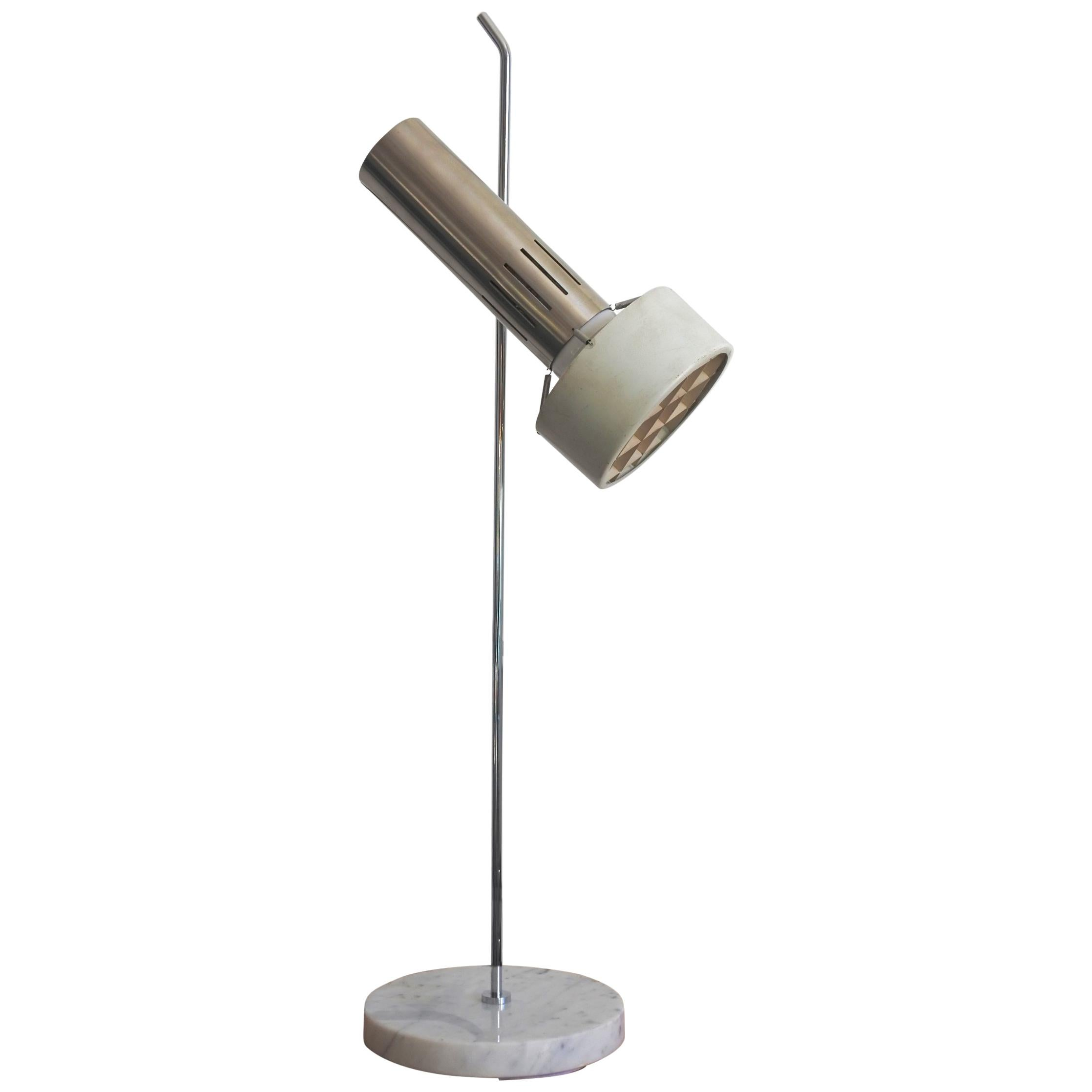 Alain Richard A4 Table Lamp with Marble Base, Ed Disderot, France, 1958