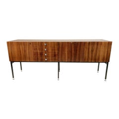 Alain Richard, Large Rosewood Sideboard 800 Series, TV Furniture, France, 1958
