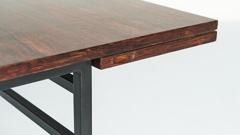 Steel Alain Richard, Table 802 for Meubles TV, C.1950 For Sale