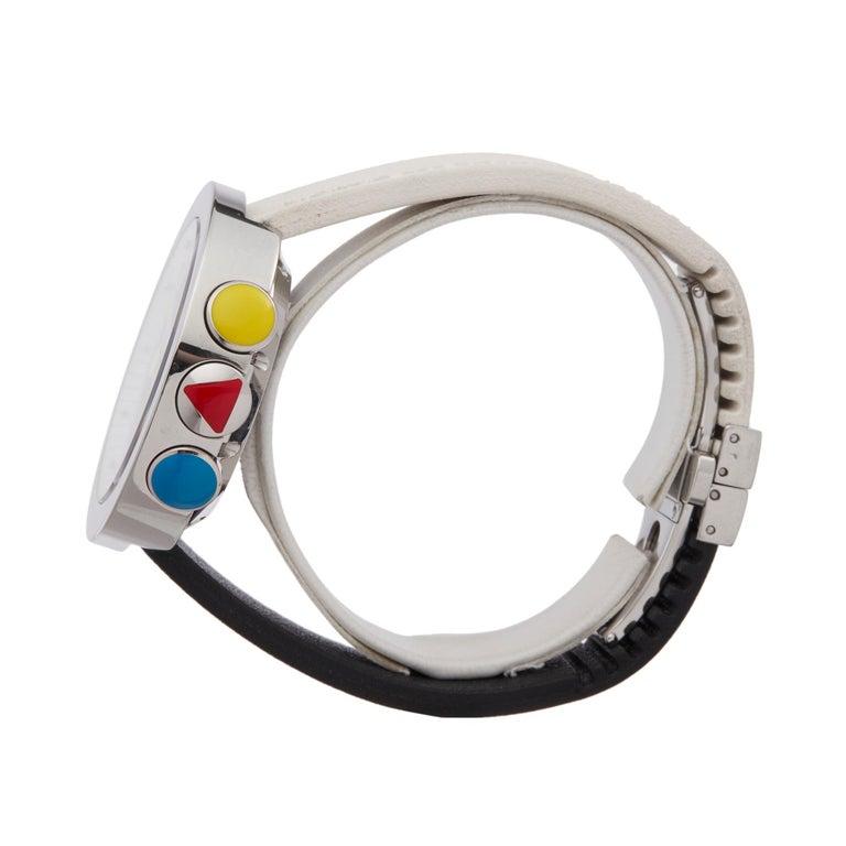 Alain Silberstein Rondo Krono Stainless Steel Chronograph Wristwatch In Excellent Condition For Sale In Bishops Stortford, Hertfordshire