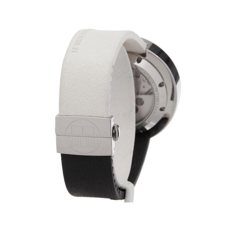 Men's Alain Silberstein Rondo Krono Stainless Steel Chronograph Wristwatch For Sale