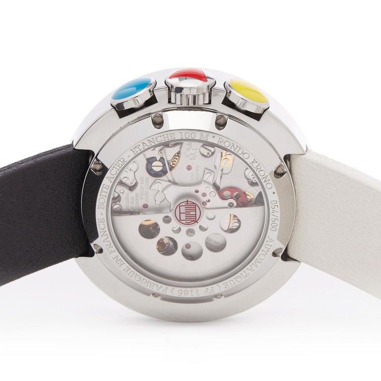 Alain Silberstein Rondo Krono Stainless Steel Chronograph Wristwatch For Sale 2