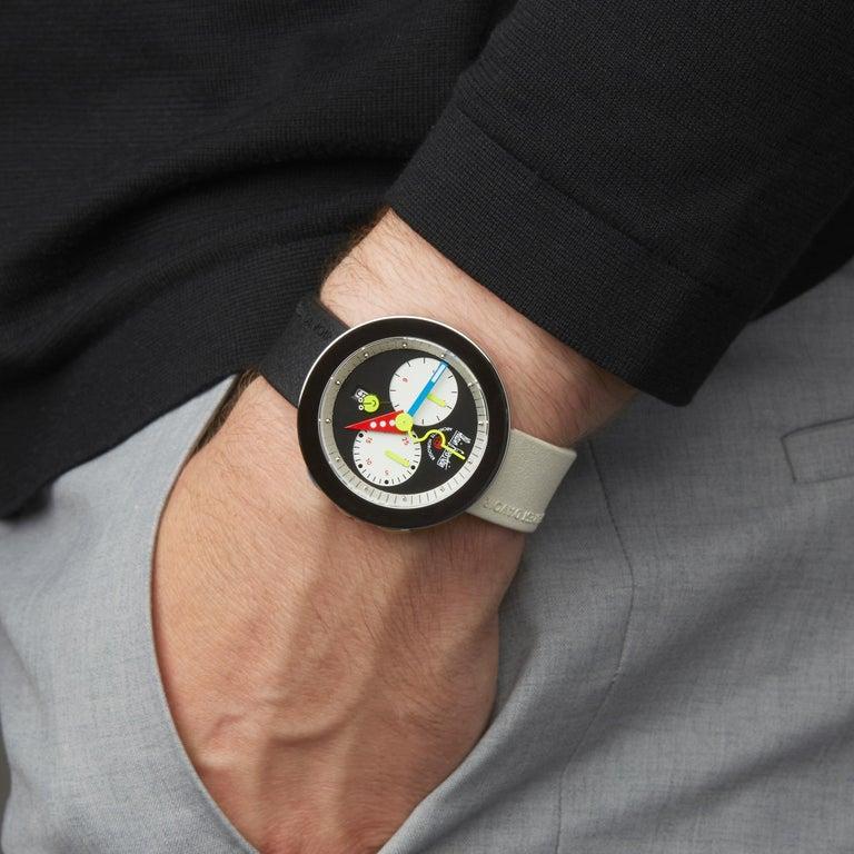 Alain Silberstein Rondo Krono Stainless Steel Chronograph Wristwatch For Sale 4