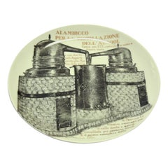 Alambicco Plate for Martini & Rossi, by P. Fornasetti, 1960s