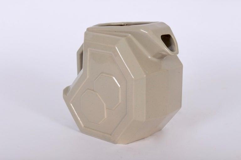 Alamo Potteries Art Deco Glazed Ceramic Pitcher Circa